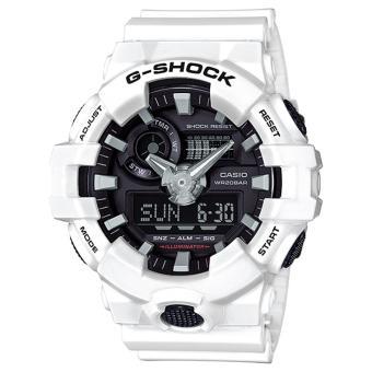 Casio G-SHOCK GA-700-7ADR - Analog-Digital - Multifunction - Jam Tangan Pria - Bahan Tali Resin - Putih