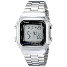 Casio Original Jam Tangan Digital Sporty Unisex - 178A-ADF Silver