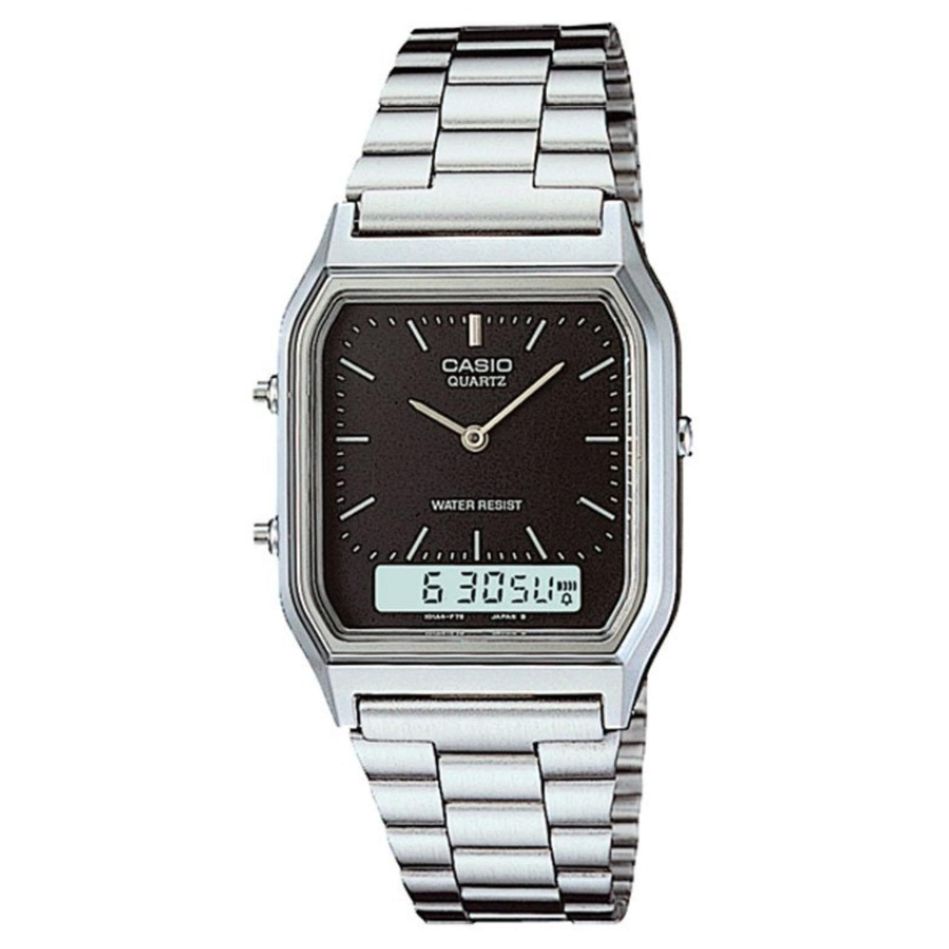 Casio Jam Tangan Pria Analog Mq 24 Geneva Qq 005 Black Emporio Armani Ar1828 Silver Flash Sale Standard Aq 230a