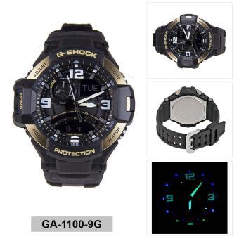 Casio Watch G-SHOCK GRAVITYMASTER Black Resin Case Resin Strap Mens NWT + Warranty GA-1100-9G