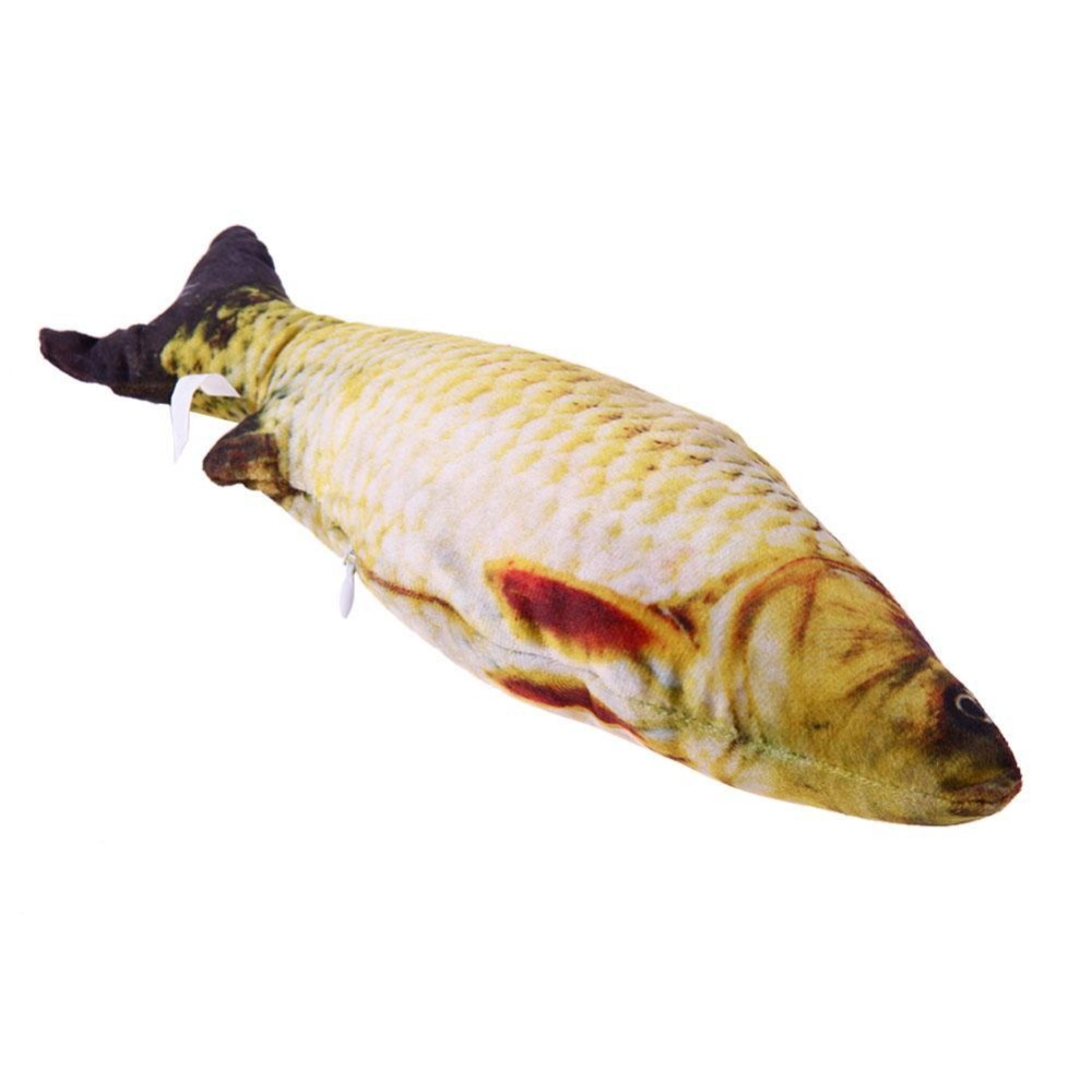 Cat Favor Fish Toy Stuffed Fish Cat Scratch Board Scratching Post(Yellow) - intl
