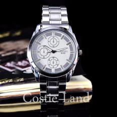 Jam Tangan Pria Cenozo Body Silver White Dial Cnz 6985b G Pp Stainless .