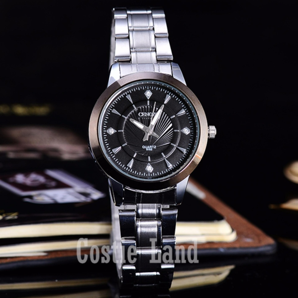 ... Cenozo - Jam Tangan Wanita - Body Silver - Black Dial - Stainless Steel Band ...