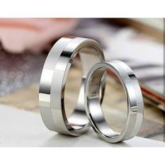 cincin couple / cincin tunangan / cincin nikah titanium anti karat dan hitam - 24