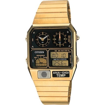 Citizen ANA Digi Dual Time Temperature Retro Classic Watch JG2002-53P(Multicolor) intl