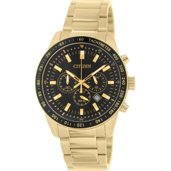 Citizen Mens Gold Stainless Steel Chrono Watch NWT AN8072-58E(Multicolor) intl