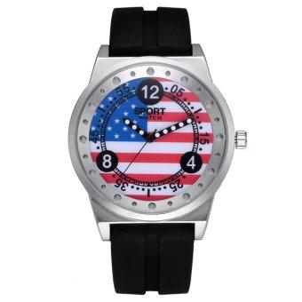 coconie New Unisex Leather Stainless Steel Dial Quartz Wrist Watch - intl