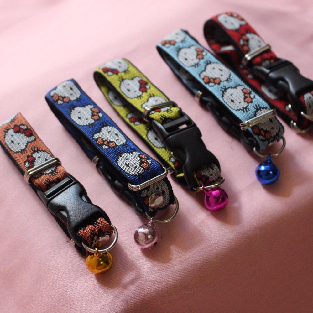 Collar Pets / Kalung Kucing/ Kalung Anjing Motif Hello KittyLonceng Biasa