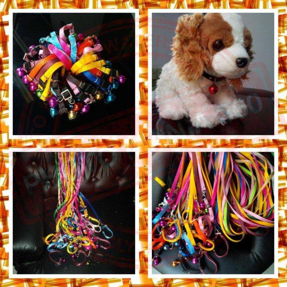 Home; Persediaan hewan; Anjing Kucing. Collar/Kalung uk S + Leash Kuning Muda untuk Kucing, Kelinci,Musang, ...