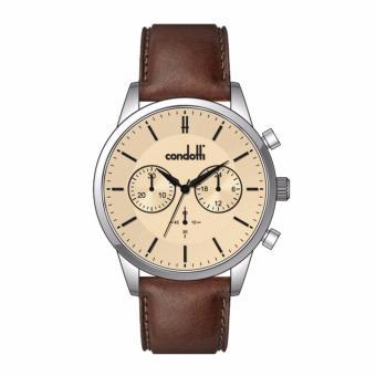 CONDOTTI CN1034-S25-L25 - CORTESE - Chronograph - Jam Tangan Pria - Bahan Tali Leather - Coklat
