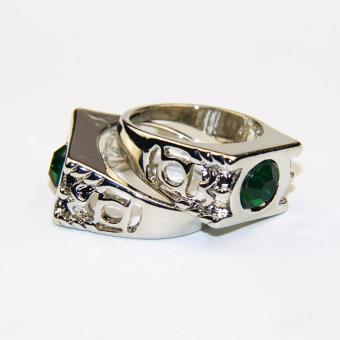 Crystal Green Lantern Ring Party Ring For Men Jewelry - intl - 4
