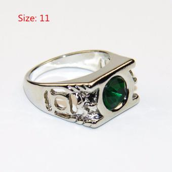 Crystal Green Lantern Ring Party Ring For Men Jewelry - intl - 5
