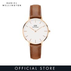 Daniel Wellington Classic Petite Durham White Watch 32mm-Rose Emas