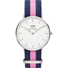 Daniel Wellington Classic Winchester Eggshell White Dial Navy and Pink Nylon Ladies Watch 0604DW