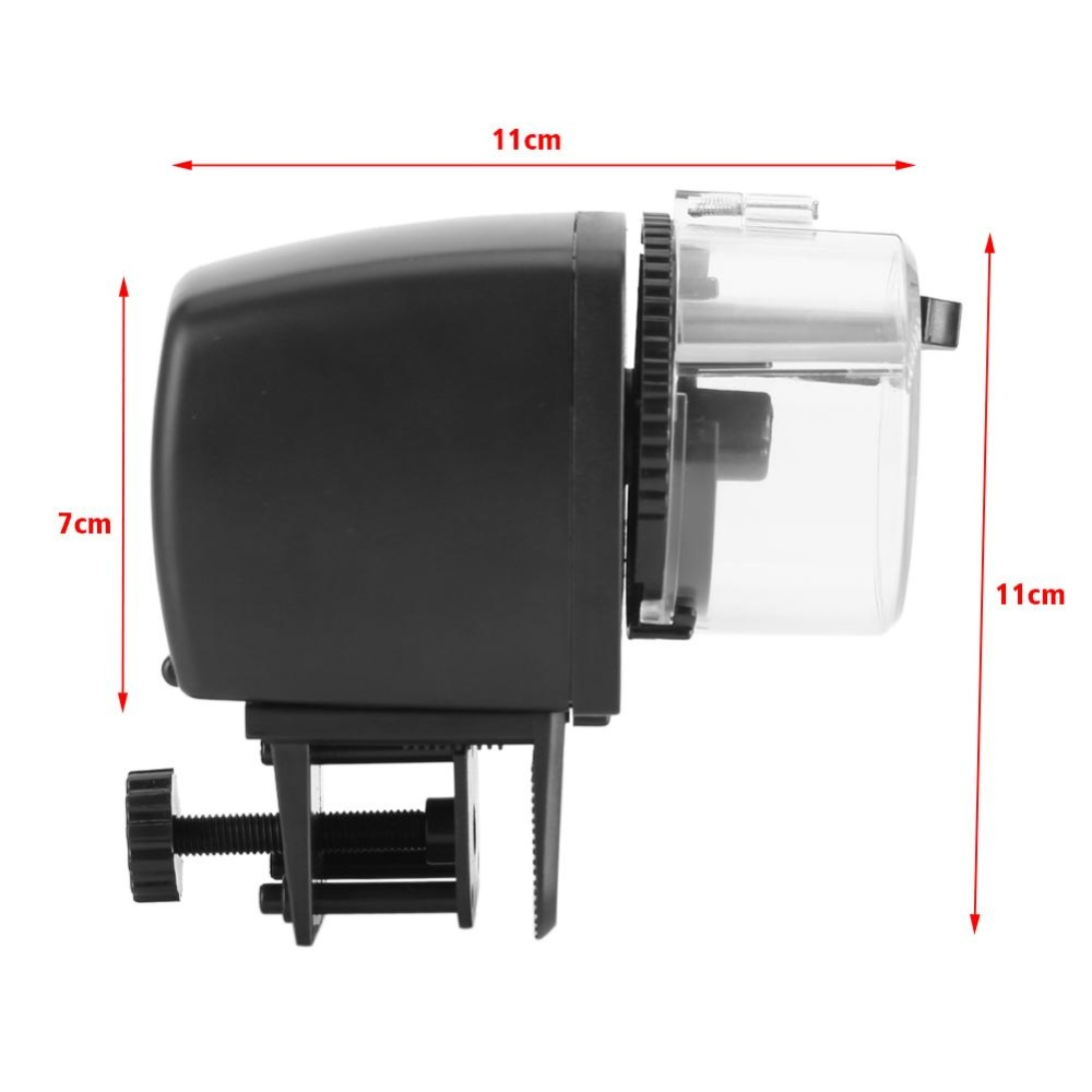 Digital LCD Electronic Fish Feeder Dispenser Timer Automatic Aquarium Tank Food Feeding Machine - intl