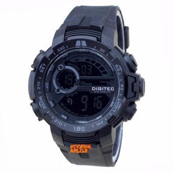 Digitec - DG3053M - Jam Tangan Pria - Strap Karet - Hitam