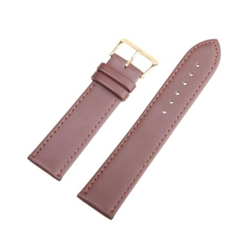 DJ High Quality Store New Women Men High Quality Unisex Leather Blackbrown Watch Strap Band 22Mm - intl