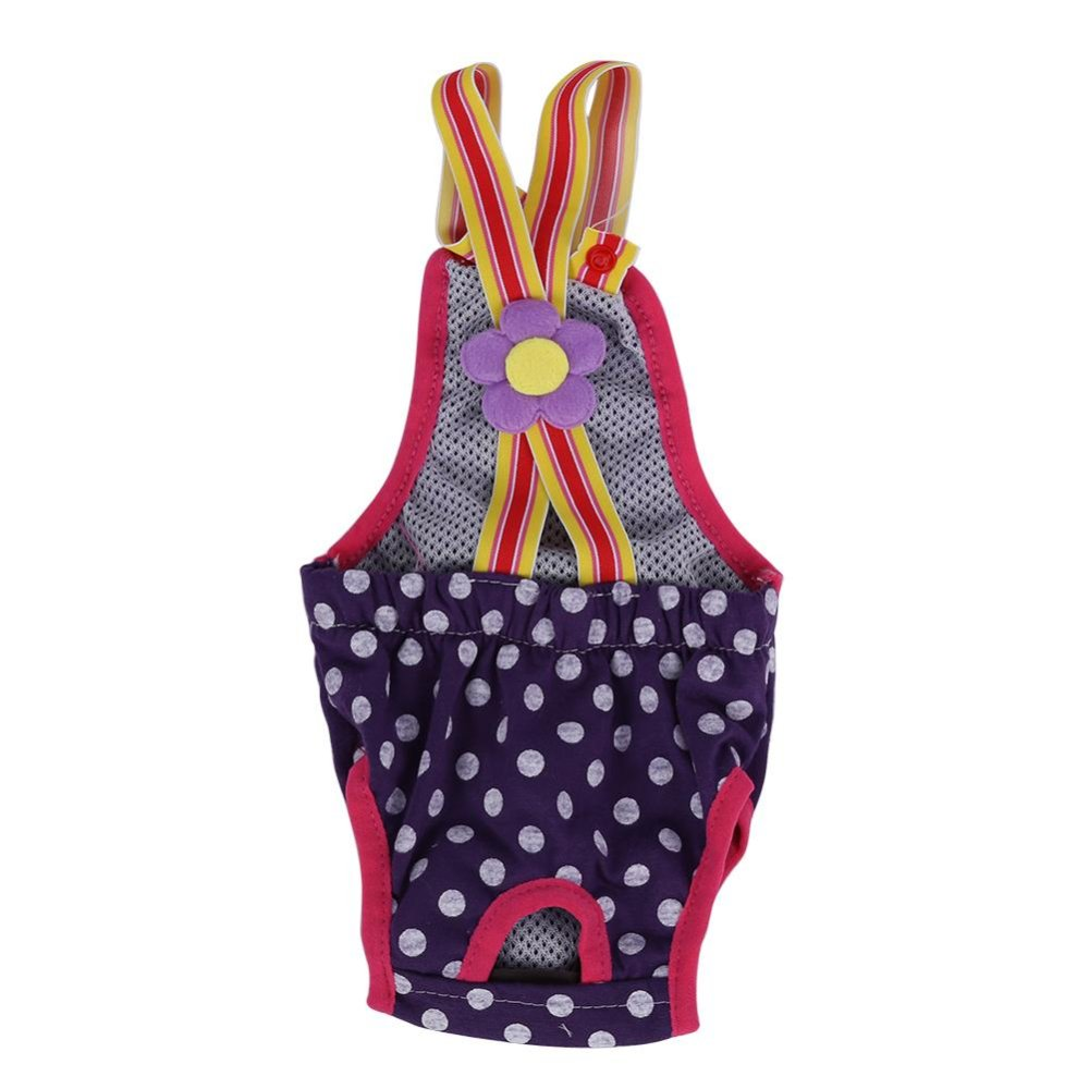 ... Dog Diaper Suspender Underwear Reusable Washable Pants Purple XXS -intl ...