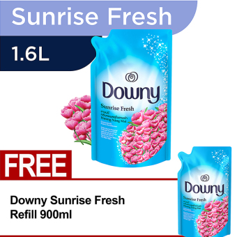 Downy Sunrise Fresh Refill 1.6L FREE Downy Sunrise Fresh Refill 900ml
