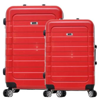 Dupont Koper Hardcase NO ZIPPER SET size 20 inch + 24 inch - 8775 - Merah