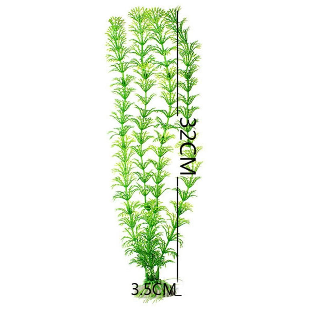 Eachgo Fish Tank Plastic Decoration Aquarium Green Plants WaterGrass Ornament Plant - intl
