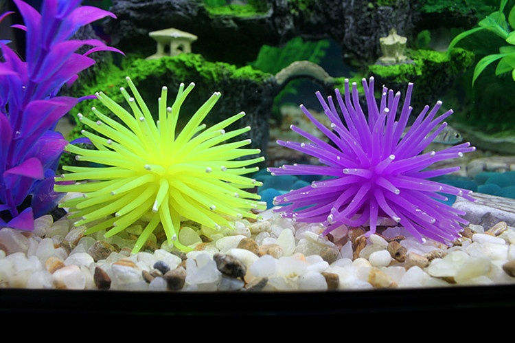 Eachgo Random Color Aquarium Fish Tank Sea Artificial Fake CoralOrnament Silicone Decoration - intl