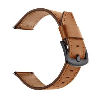 Elegant Leather Replacement Watchband Smart Bracelet Watch Wrist Band Strap for Fitbit Blaze Smart Fitness Tracker Smartband Brown - intl