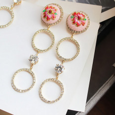 LRC Anting Korean personality fashion candy color moustache charm studs earrings. RP 12.354. RP