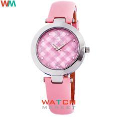 Elle ES20048S08X Pink- Jam Tangan Wanita - Strap Kulit