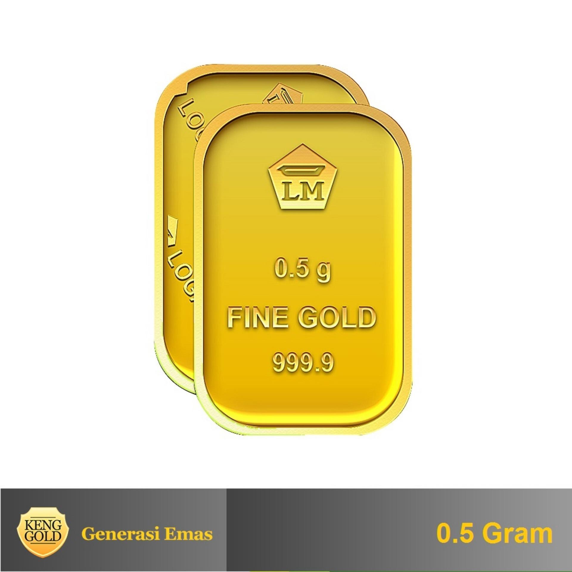 Emas 0.5 Gram - Logam Mulia 999.9 Sertifikat Antam .