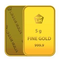 Emas Gold Gloria - Logam Mulia - 5 gram - Sertifikat Antam