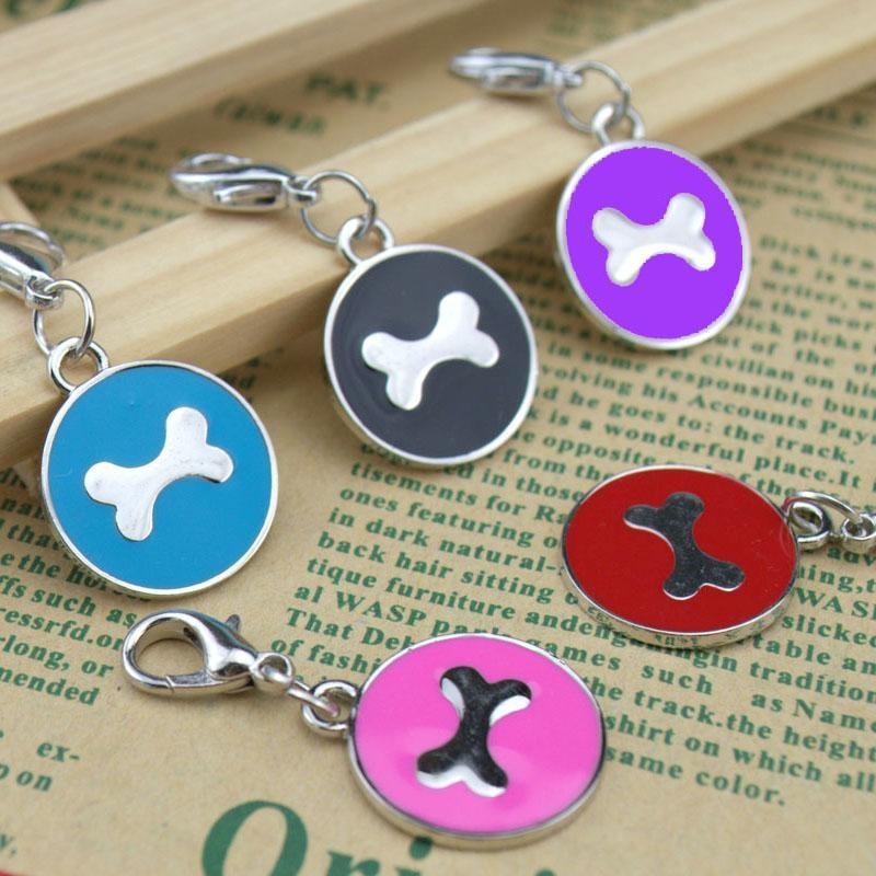 Engraving Bone Shape Dog Collar ID Pedant Pet Jewelry Pet Tags Dog Tags Custom - intl