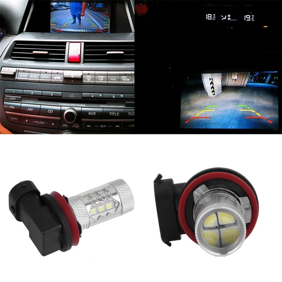 ERA 1 buah H11 80 watt daya tinggi LED cerah kabut mobil berlariputih lampu bohlam lampu