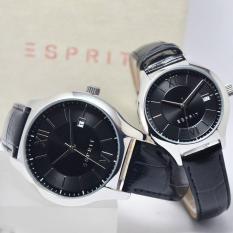 Esprit - Jam Tangan Couple  - Kulit - Hitam - ES107491001 & ES107492001
