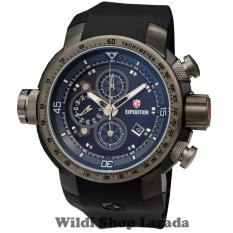Expedition E6335 100% Original Jam Tangan Pria Stainless Rubber Hitam