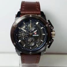 EXPEDITION Original-E6748-Jam Tangan Pria-Kulit Coklat Black