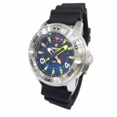 Expedition Sea Walkers Divers GMT 6711MDRSSBA Extra Rubber Strap Jam Tangan Pria - Silver