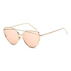 Fashion Baru Logam Warna Film Kacamata Pria And Wanita Retro Style Sunglasses-Bright Black Box Semua Abu-abu