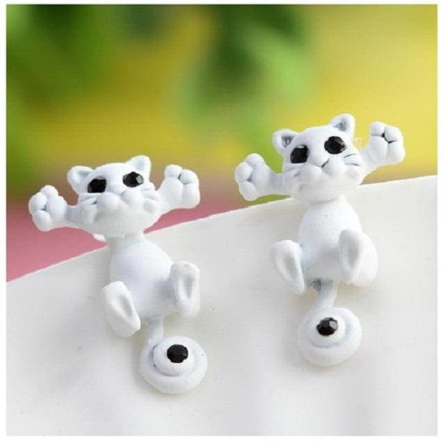 Fashion Design 9 Color Lovely Classic Animal Korean Cute Cat Earrings For Girl Women Gift Jewelry - intl