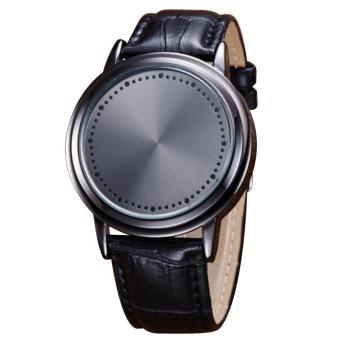 Fashion Men Touch Screen LED Wrist Watch Wristwatch with PU Leather Band - intl