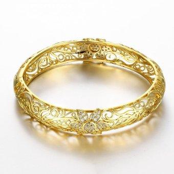 Fashion Perhiasan Wanita Gelang Manset Berlapis Emas Gelang - 5 .