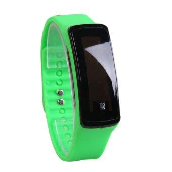 Fashion Sport LED Women Silicone Rubber Strap Touch Screen Digital Bracelet Watch Green