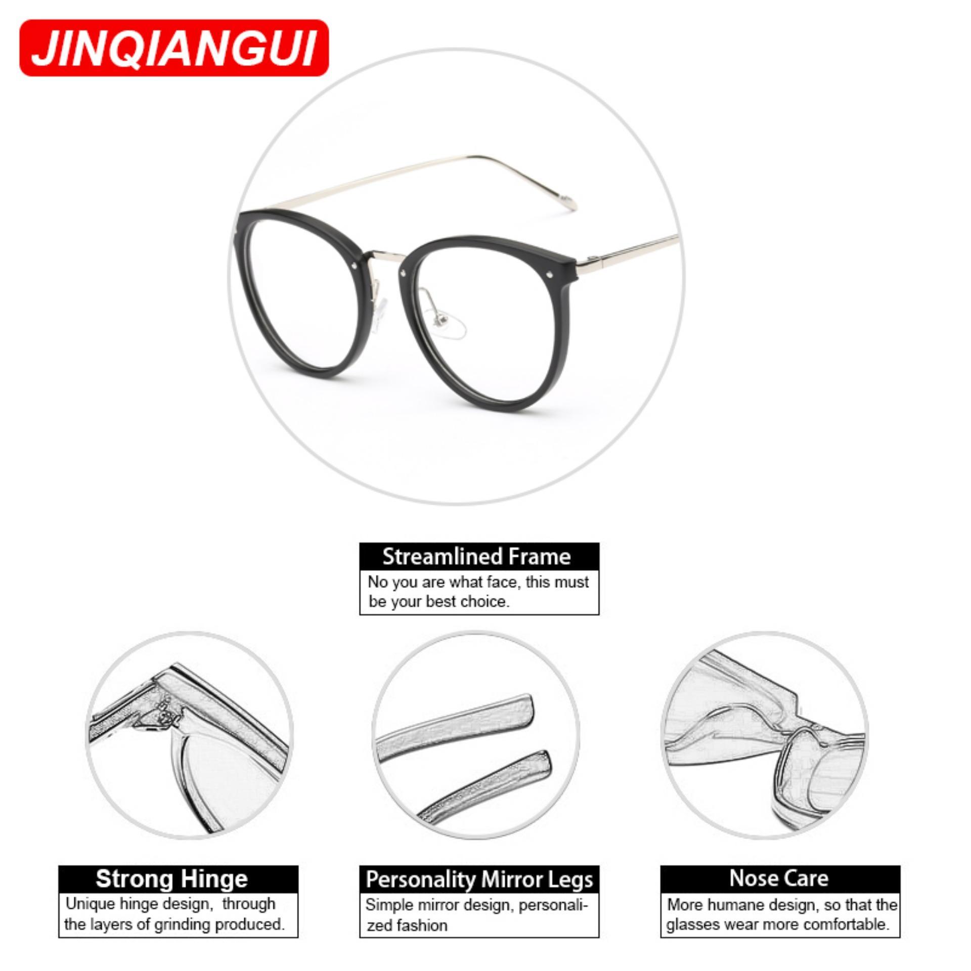 ... Fashion Vintage Retro Round Glasses Brown Frame Glasses Plain for Myopia Women Eyeglasses Optical Frame Glasses ...