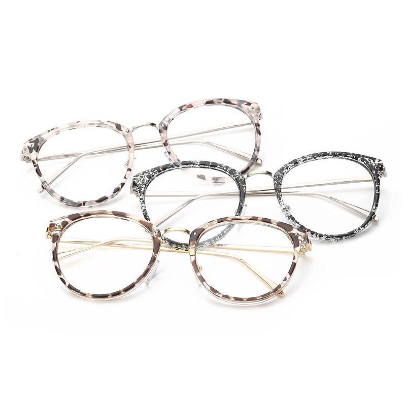Fashion Vintage Retro Round Glasses Brown Frame Glasses Plain for Myopia Women Eyeglasses Optical Frame Glasses ...