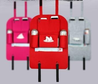 Felt cloth pouch car back seat hanging bags Zhiwu Dai car with bagsof debris storage box(Pink) - 2