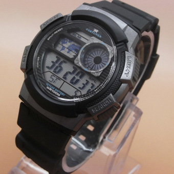 Fortuner Men's Sport - Jam Tangan Pria - Hitam - Strap Karet -oc s1416