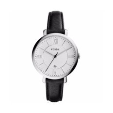 Fosil Womens ES3972 Jacqueline Stainless Steel Watch dengan Black Kulit Band-Intl