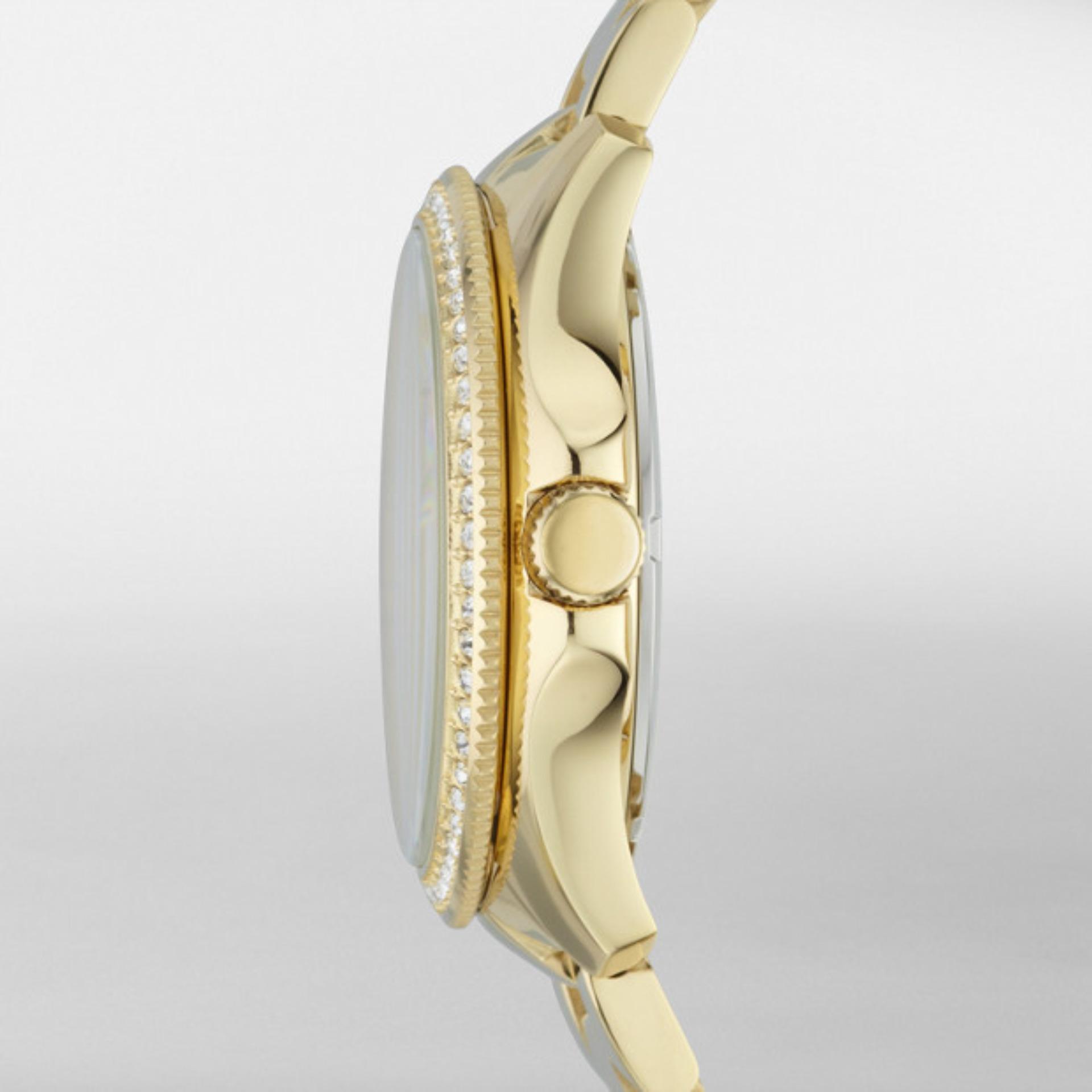 Fossil Cecile Jam Tangan Wanita Putih Kombinasi Rosegold Tali Kulit Am4632 Original Am4482