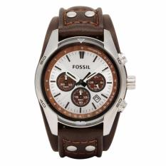Fossil CH2565 - Jam Tangan Pria - Brown - Strap Leather