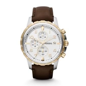 Fossil Dean Chronograph Brown Leather Watch, FS 4788